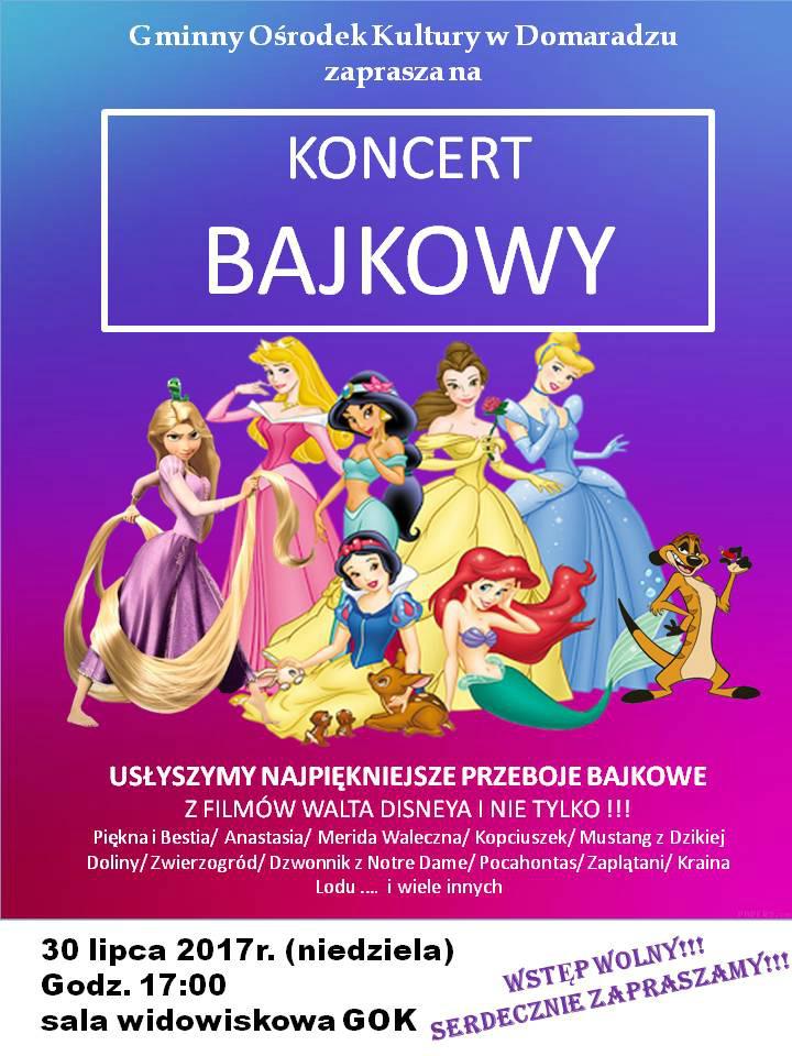 Koncert bajkowy - plakat
