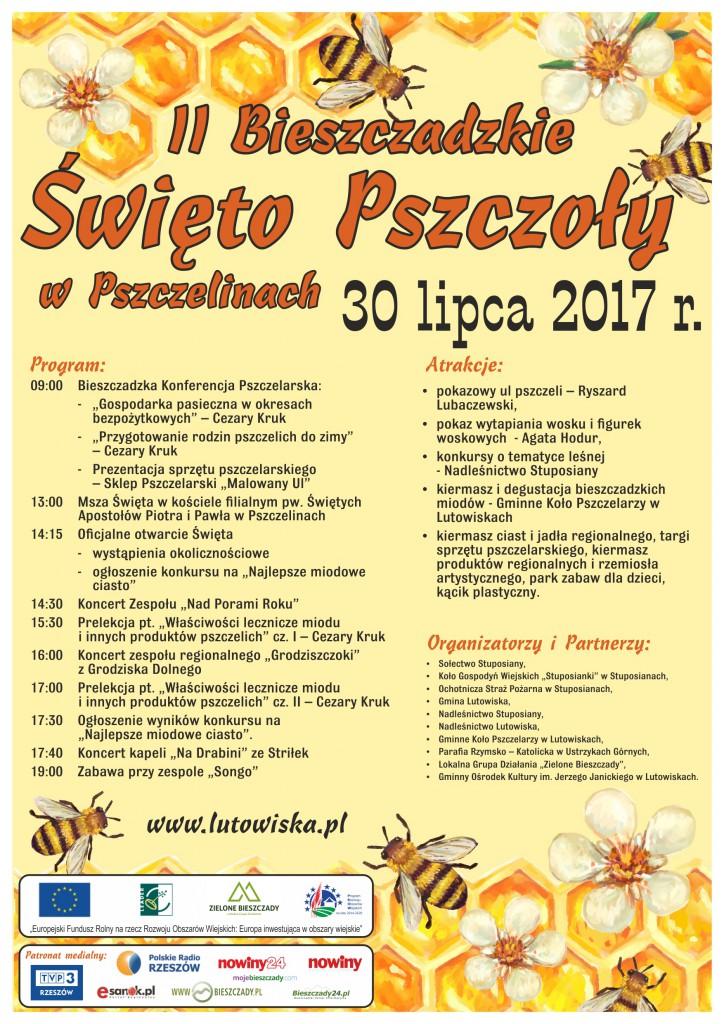 Plakat Bieszczadzkie Święto Pszczoły 072017 (4)