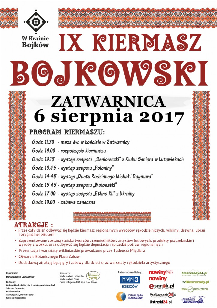 Plakat Kiermasz Bojkowski 2017