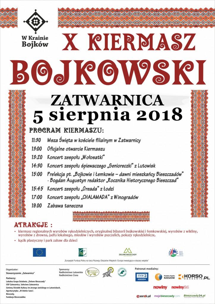 Plakat Kiermasz Bojkowski 2018