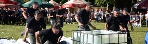 GMINA ZARSZYN: Szybkość, sprawność, siła i dobra zabawa. Spotkanie strażackich strongmenów (ZDJĘCIA)